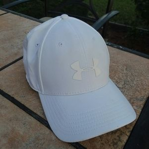 UNDER ARMOUR Dri Fit White Baseball Cap Hat L XL